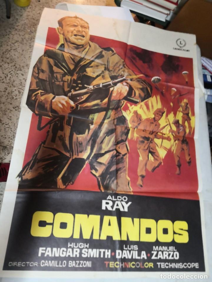 CARTEL DE CINE COMANDOS ALDO RAY POSTER ORIGINAL (Cine - Posters y Carteles - Acción)