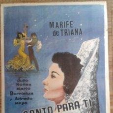 Cine: CANTO PARA TI. POSTER 70X100CM. MARIFE DE TRIANA.. Lote 259986475