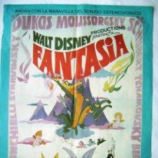 Cine: FANTASÍA, DE WALT DISNEY. PÓSTER 68,5 X 91 CMS. 1976.. Lote 259989360