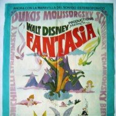 Cinéma: FANTASÍA, DE WALT DISNEY. PÓSTER 68,5 X 91 CMS. 1976.. Lote 260062520