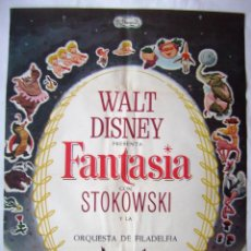 Cinéma: FANTASÍA, DE WALT DISNEY. PÓSTER 68,5 X 95 CMS. 1968.. Lote 260064225