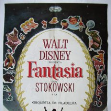 Cinéma: FANTASÍA, DE WALT DISNEY. PÓSTER 68,5 X 95 CMS. 1968.. Lote 260065230