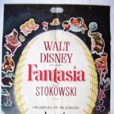 Cinéma: FANTASÍA, DE WALT DISNEY. PÓSTER 68,5 X 95 CMS. 1968.. Lote 260065595