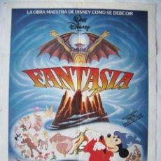 Cinéma: FANTASÍA, DE WALT DISNEY. PÓSTER 70 X 100 CMS. 1940.. Lote 260066280