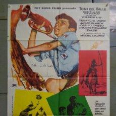 Cine: CDO K627 DE LA PIEL DEL DIABLO TONY DEL VALLE VENANCIO MURO POSTER ORIGINAL 70X100 ESTRENO. Lote 260070860