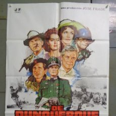 Cine: CDO K643 DE DUNQUERQUE A LA VICTORIA GEORGE PEPPARD UMBERTO LENZI CAPUCINE POSTER ORIG 70X100 ESTREN. Lote 260099080