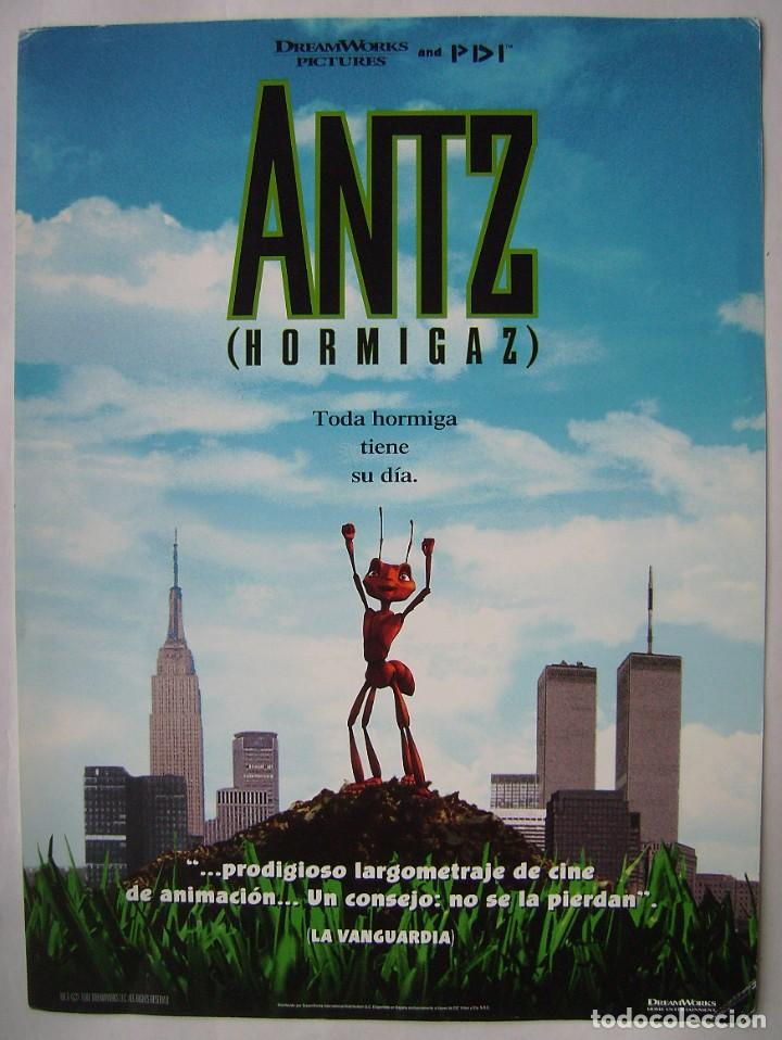 ANTZ (HORMIGAZ), ANIMACIÓN. MINI PÓSTER DE TEATRO . 26 X 35 CMS. (Cine - Posters y Carteles - Infantil)