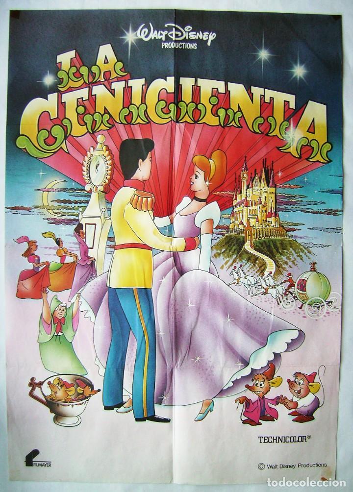 LA CENICIENTA, DE WALT DISNEY. POSTER 69 X 97,5 CMS.,FILMAYER. (Cine - Posters y Carteles - Infantil)