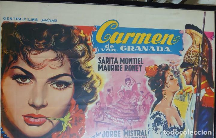 SARITA MONTIEL CARTEL BELGA DE LA PELÍCULA CARMEN LA DE RONDA 35 X 54 CTMS... (Cine - Posters y Carteles - Musicales)