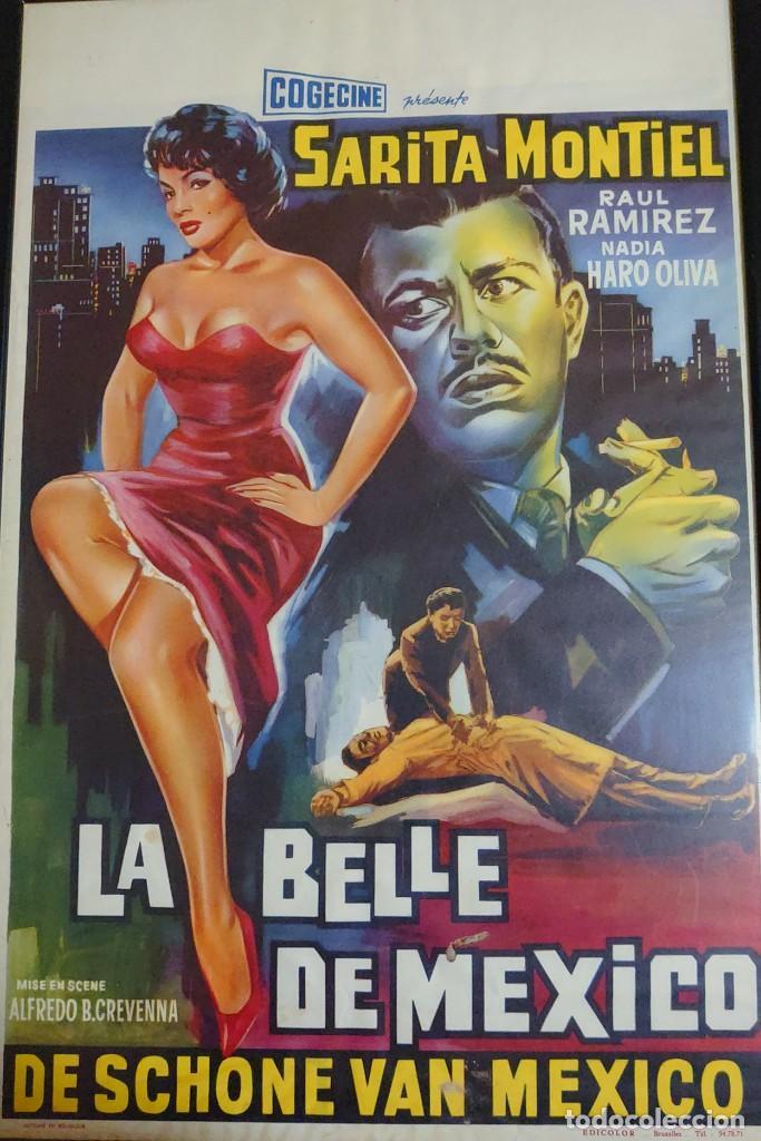 SARITA MONTIEL CARTEL BELGA DE LA PELÍCULA LA BELLE DE MEXICO 35 X 54 CTMS... (Cine - Posters y Carteles - Musicales)