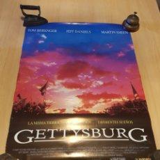 Cine: POSTER GETTYSBURG BERENGER MARTIN SHEEN JEFF DANIELS 84,5 X 63,5 CM. Lote 260404160
