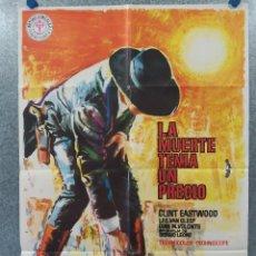 Cine: LA MUERTE TENÍA UN PRECIO. CLINT EASTWOOD. AÑO 1978. POSTER ORIGINAL. Lote 260669930
