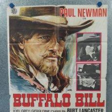 Cine: BUFFALO BILL. PAUL NEWMAN, BURT LANCASTER. AÑO 1977. POSTER ORIGINAL. Lote 260672385