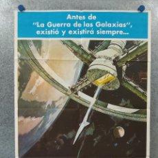 Cine: 2001: UNA ODISEA DEL ESPACIO. STANLEY KUBRICK. AÑO 1977. POSTER ORIGINAL. Lote 260680645