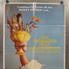 Cine: LOS CABALLEROS DE LA MESA CUADRADA Y SUS LOCOS SEGUIDORES. MONTY PYTHON. POSTER ORIGINAL. Lote 260686480