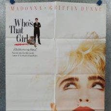 Cine: ¿QUIÉN ES ESA CHICA? WHO'S THAT GIRL? MADONNA, AÑO 1987. POSTER ORIGINAL. Lote 260688880