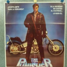 Cinema: THE PUNISHER (VENGADOR). DOLPH LUNDGREN, LOUIS GOSSETT JR. POSTER ORIGINAL. Lote 287669993
