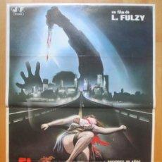 Cine: CARTEL CINE EL DESTRIPADOR DE NUEVA YORK JACK HEDLEY ALMANTA KELLER 1982 C2011. Lote 260817330