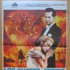 Cine: CARTEL CINE LOS CUATRO JINETES DEL APOCALIPSIS GLENN FORD INGRID THULIN JANO 1973 C2013. Lote 260819515