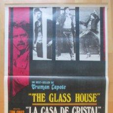 Cine: CARTEL CINE LA CASA DE CRISTAL THE GLASS HOUSE VIC MORROW 1972 C2014. Lote 260819925
