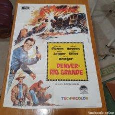 Cine: CARTEL DE CINE ORIGINAL, DENVER RÍO GRANDE, 99 X 69 CM, PLEGADO.. Lote 260822740