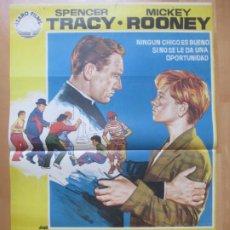 Cine: CARTEL CINE LA CIUDAD DE LOS MUCHACHOS SPENCER TRACY MICKEY ROONEY1972 JANO C2023. Lote 260828305