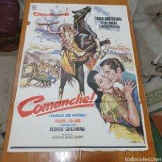 Cine: CARTEL ORIGINAL DE CINE, COMANCHE, 1978, 100 X 69 CM, PLEGADO. Lote 260829785