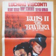 Cine: CARTEL CINE LUIS II DE BAVIERA EL REY LOCO LUCHINO VISCONTI ROMY SCHNEIDER C2025. Lote 260830220