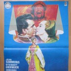 Cine: CARTEL CINE LA REINA VIRGEN JEAN SIMMONS STEWART GRANGER 1972 JANO C2026. Lote 260830870