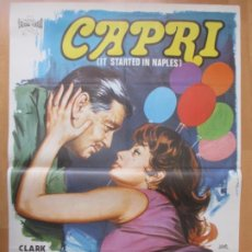 Cine: CARTEL CINE CAPRI CLARK GABLE SOFIA LOREN 1973 JANO C2031. Lote 260840840
