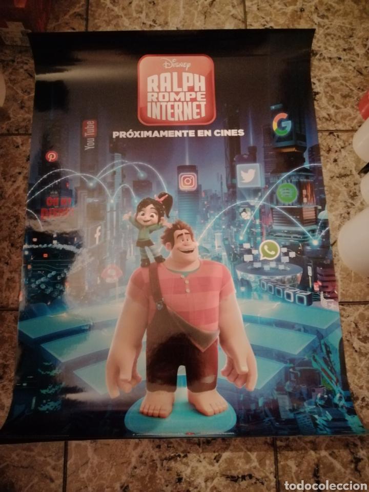 POSTER ORIGINAL RALPH ROMPE INTERNET 100X70 (Cine - Posters y Carteles - Infantil)