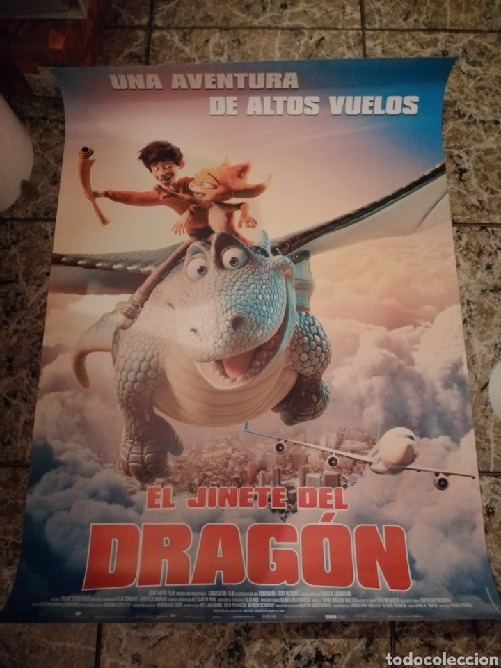 POSTER ORIGINAL EL JINETE DEL DRAGON 100X70 (Cine - Posters y Carteles - Infantil)