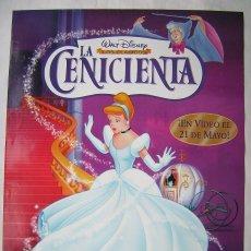 Cine: LA CENICIENTA, DE WALT DISNEY. POSTER DE VIDEO 64 X 96 CMS.,. Lote 261160970
