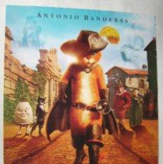 Cine: EL GATO CON BOTAS. POSTER 68,5 X 98,5 CMS.,. Lote 261161510