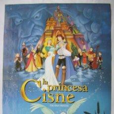 Cine: LA PRINCESA CISNE. POSTER 67,5 X 96,5 CMS.,1994. Lote 261162095