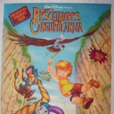 Cine: LOS RESCATADORES EN CANGUROLANDIA. POSTER 68,5 X 96 CMS.,. Lote 261162660