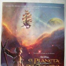 Cine: EL PLANETA DEL TESORO. POSTER 69 X 98,5 CMS.,. Lote 261163610