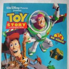 Cine: TOY STORY. PÓSTER DE VIDEO 69 X 99 CMS.. Lote 261236480