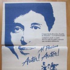 Cine: CARTEL CINE AUTOR! AUTOR! AL PACINO DYAN CANNON 1980 C2034. Lote 261362895