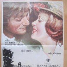 Cine: CARTEL CINE PECADOS DE OTOÑO JEANNE MOREAU PHILIPPE DE BROCA 1972 MCP C2036. Lote 261384030