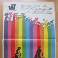 Cine: CARTEL CINE EL VALLE DEL ARCO IRIS FRED ASTAIRE PETULA CLARK 1968 C2037. Lote 261460305