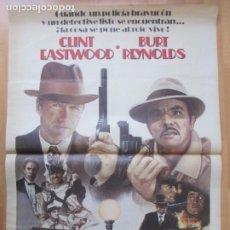 Cine: CARTEL CINE CIUDAD MUY CALIENTE CLINT EASTWOOD BURT REYNOLDS 1985 C2038. Lote 261517910