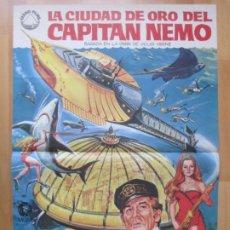Cine: CARTEL CINE LA CIUDAD DE ORO DEL CAPITAN NEMO ROBERT RYAN CHUCK CONNORS 1970 C2040. Lote 261521305