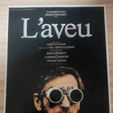 Cine: LA CONFESIÓN 1970. Lote 261665915