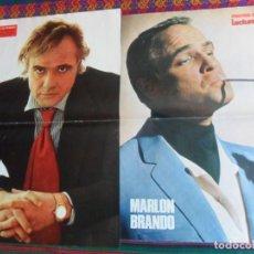 Cine: LOTE 2 POSTER DE LECTURAS Y SEMANA MARLON BRANDO CON CARTEL DE EL PADRINO. 1972. BUEN ESTADO.. Lote 261693500