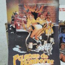 Cine: CARTEL DE CARTÓN DURO . PARQUE DE BOMBEROS .AÑOS 80 .. Lote 261789690