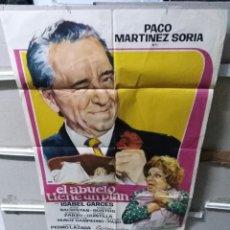 Cinema: EL ABUELO TIENE UN PLAN PACO MARTÍNEZ SORIA POSTER ORIGINAL 70X100 YY (2656). Lote 261798415