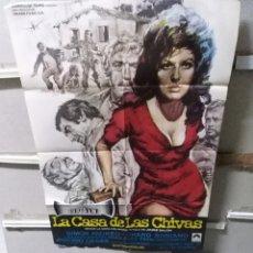 Cine: LA CASA DE LAS CHIVAS POSTER ORIGINAL 70X100 YY (2657). Lote 261798765