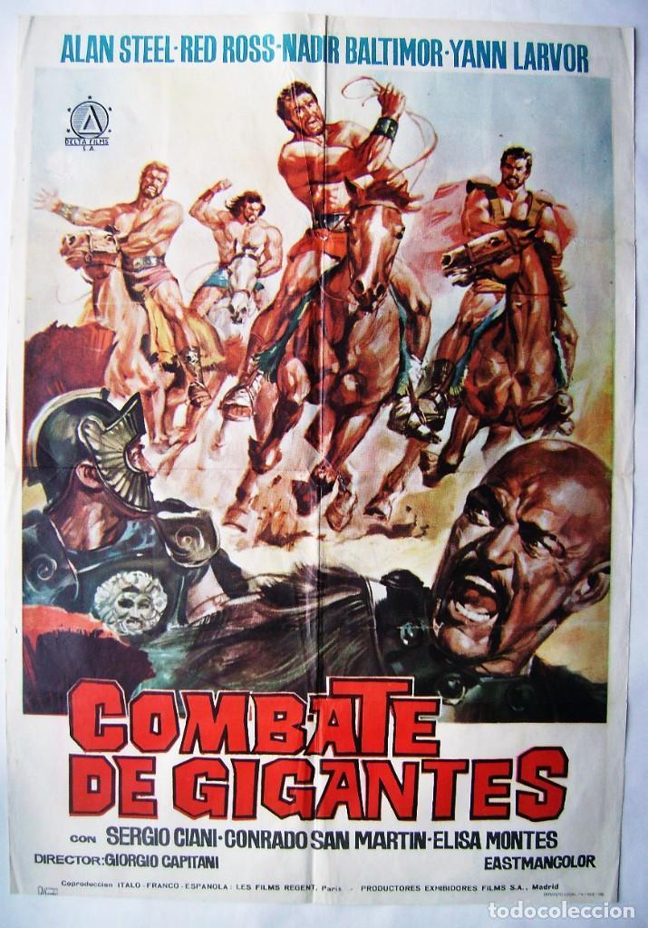 COMBATE DE GIGANTES, CON CONRADO SAN MARTÍN . PÓSTER. 70 X 100 CMS.1962 (Cine - Posters y Carteles - Acción)