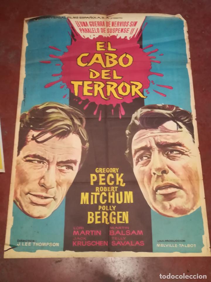 POSTER / CARTEL DE CINE ORIGINAL. EL CABO DEL TERROR. GREGORY PECK, POLLY BERGEN. 100 X 70CM. (Cine - Posters y Carteles - Acción)